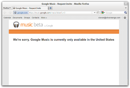 Google Music screenshot