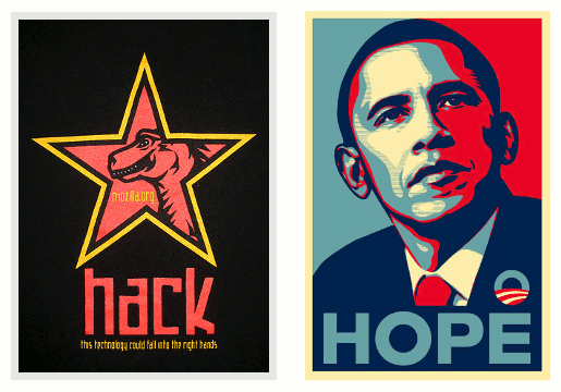 Shepard Fairey Mozilla and Obama artwork