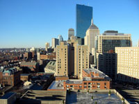 Boston from our hotel balcony
